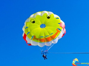 Smiley faces parachutes