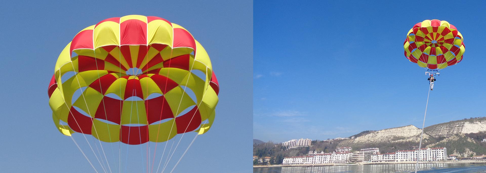 дизайн, производство и оборудване за парашути - парасейлинг